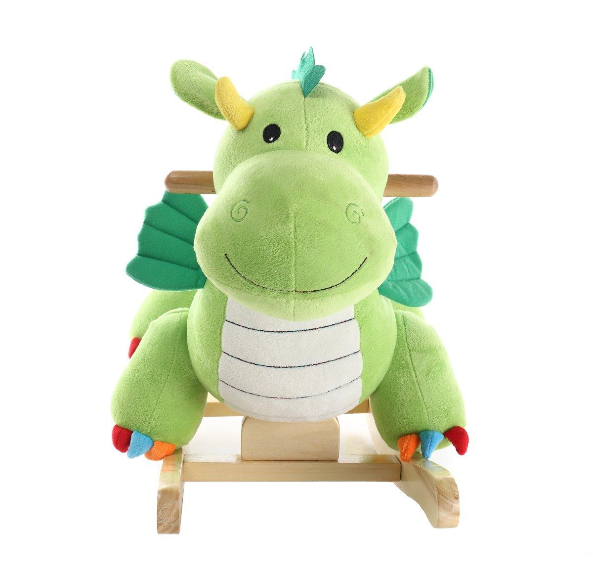 蓝色城堡小木马玩具带翅膀恐龙bc7-051绿色无音乐