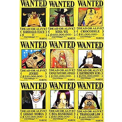 甜蜜城堡 航海王海贼王通缉令悬赏令海贼王海报全套高