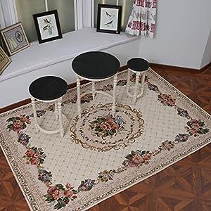 欧式客厅地毯地垫 大茶几垫 时尚简约高档现代中式卧室提花地毯垫子