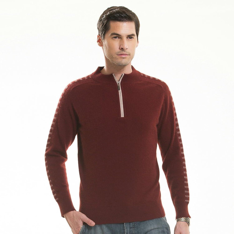 dssr都市圣绒貂绒衫男士商务休闲套头半拉链领时尚男装纯正貂绒衫