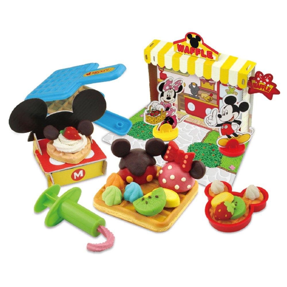 迪斯尼儿童玩具(多多乐81101米奇妙妙屋蛋糕店华夫饼彩泥套装)