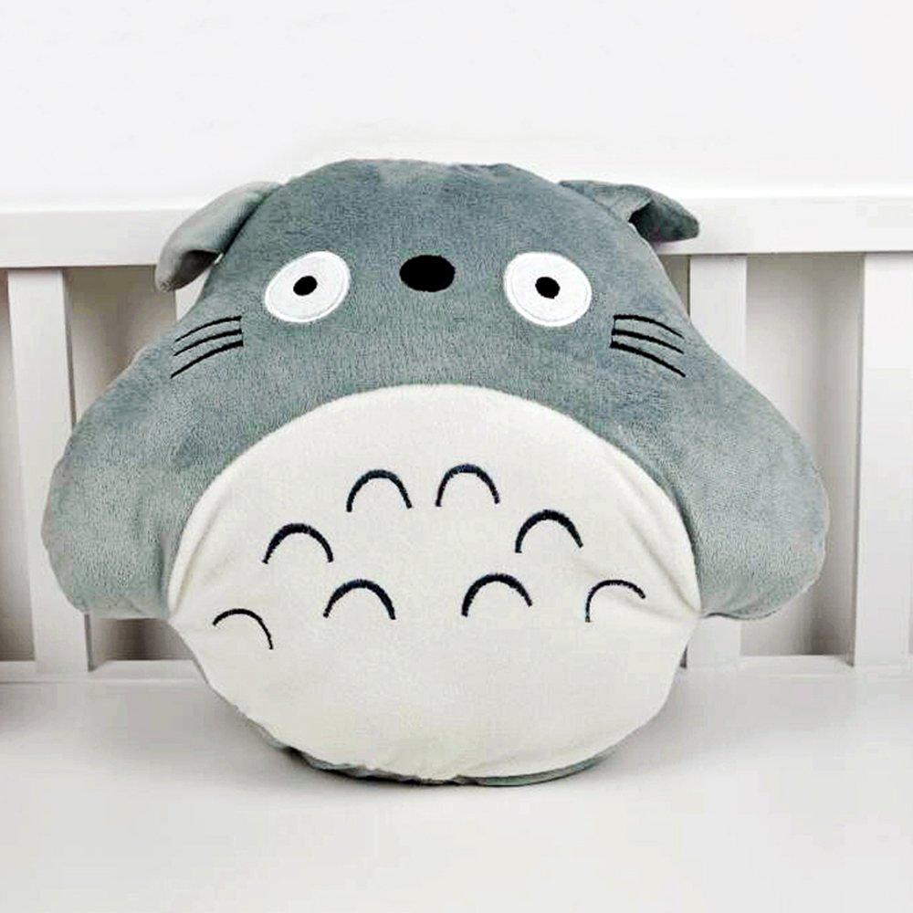 米朵 豆豆熊方熊龙猫暖手捂抱枕 两用空调毯被子毛绒玩具生日礼物