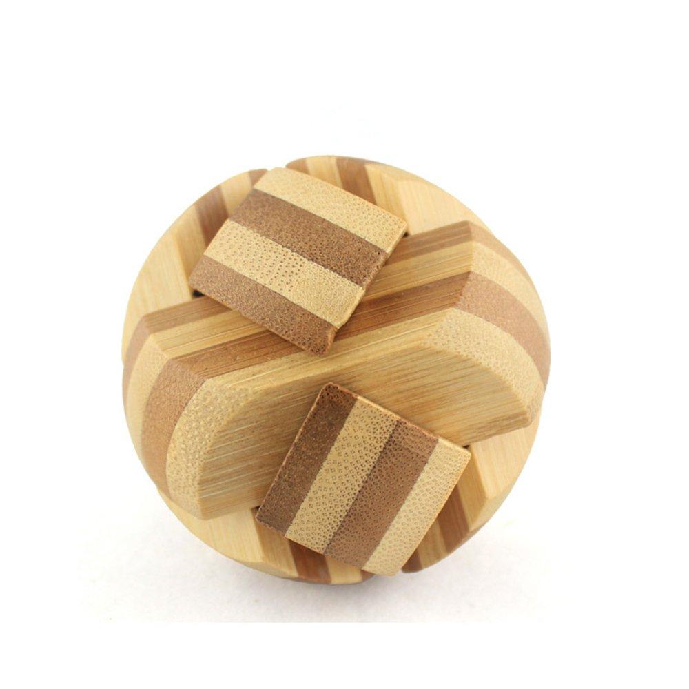 米米智玩 益智玩具 儿童木制孔明锁鲁班锁套装 成人智力拆装玩具 亲子