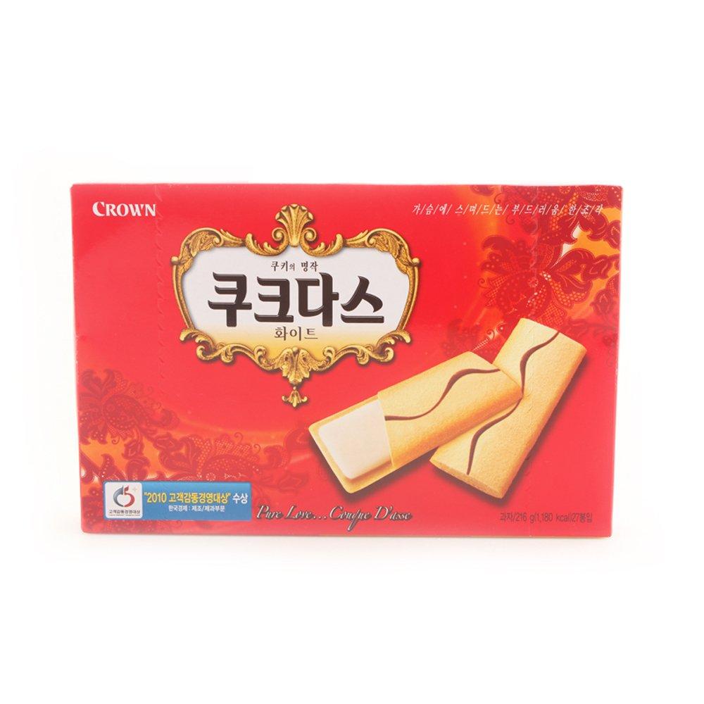 crown 可拉奥 韩国原装进口奶油夹心饼干蛋卷216g