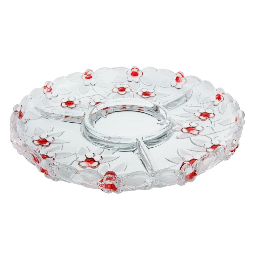 弗莱文茨 梅花果盘 创意 时尚 玻璃 欧式水晶玻璃果盘图片