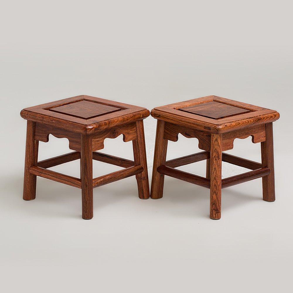 桃园居 【富贵凳】中国明式家具经典之作 无束腰直足直枨小方凳【王世