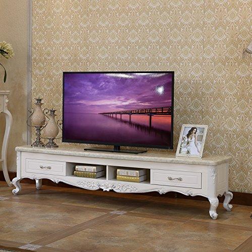 佳宜居 欧式电视柜 大理石烤漆实木雕花描银 客厅小户型茶几电视柜