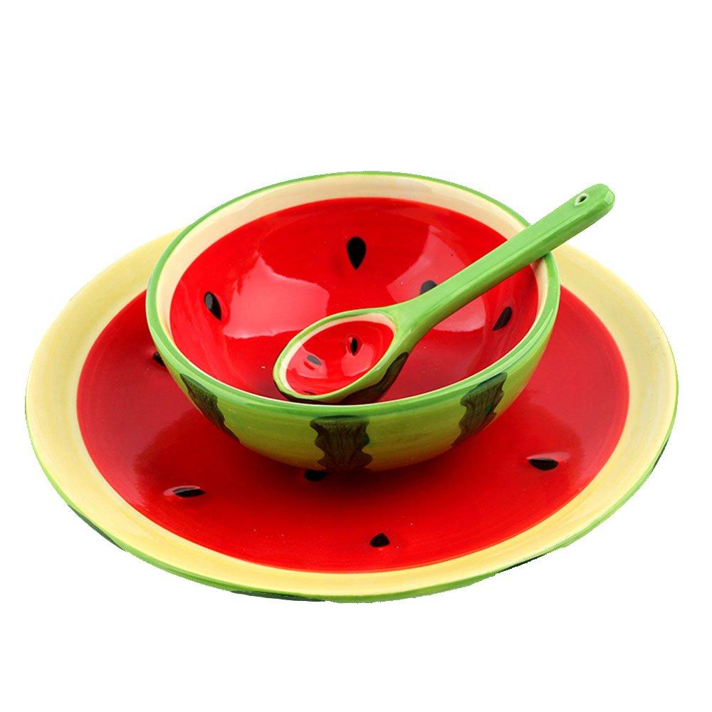 趣玩homee 合米生活 创意手绘水果系列餐具套装-西瓜