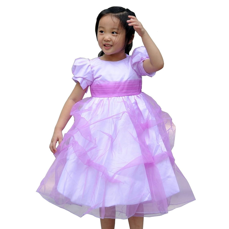 儿童皱褶公主裙