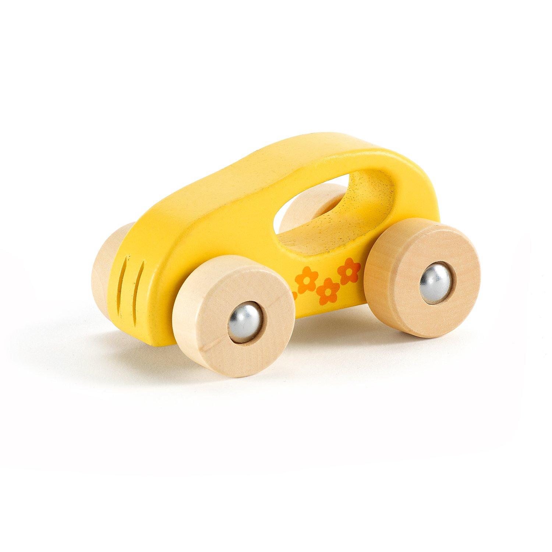 hape迷你娃娃--黄色木制玩具宝宝早教小车益智821425桃体小车图片