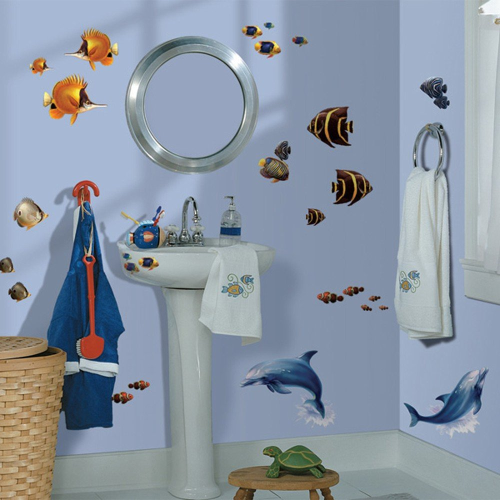 roommates 如美 3d可移动动物植物儿童卧室贴画墙贴纸贴 (在海里rmk图片