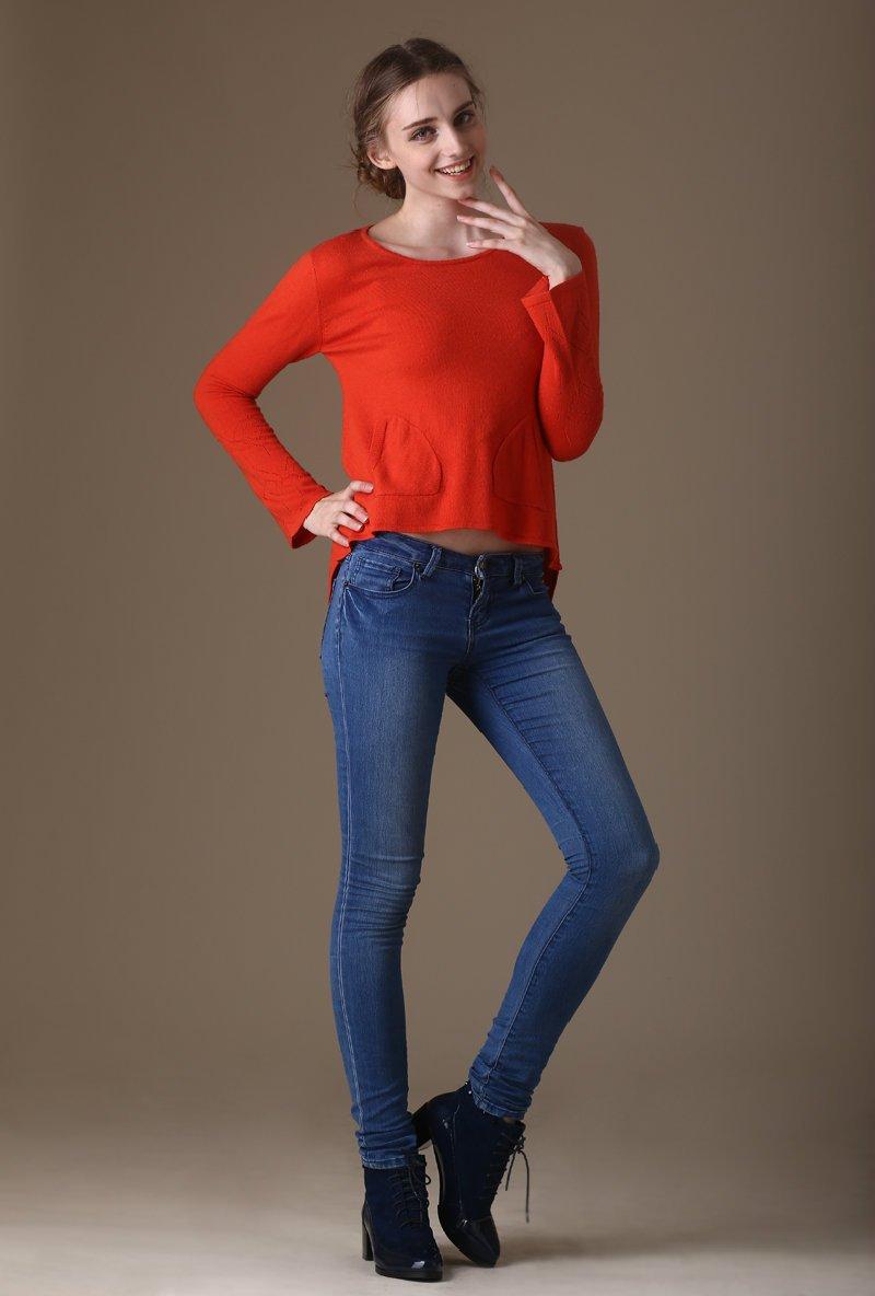 斯柔弗特【羊绒衫】新款经典女士 圆领喇叭袖 羊绒衫图片