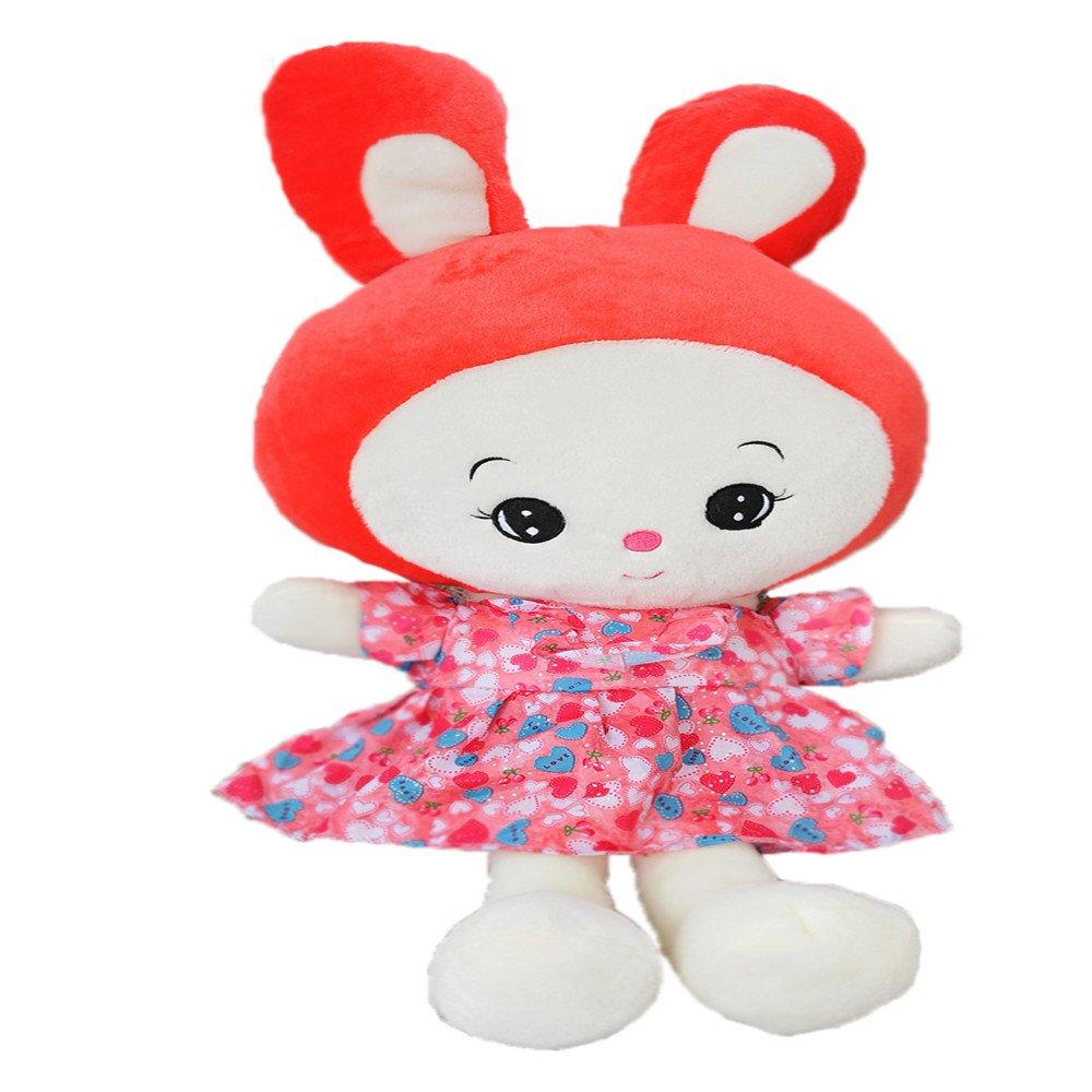卡丹天使娃娃 穿裙子兔子公仔毛绒玩具