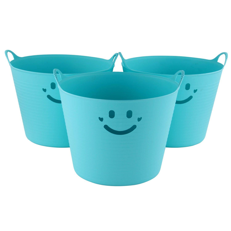 霹雳小子(tbboy)圆形笑脸收纳箱45l3个装tb-1307天蓝