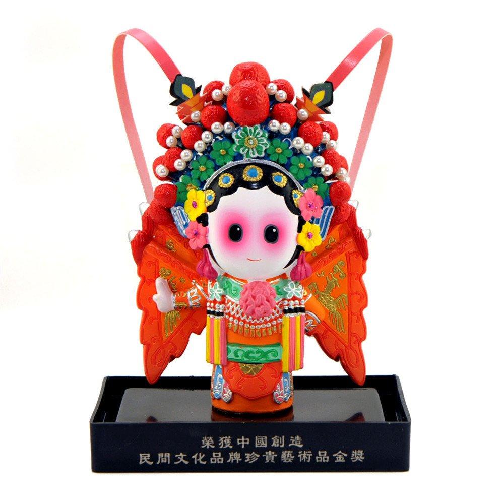 卡通京剧娃娃 创意装饰摆件 中国风商务外事出国礼品 穆桂英等 花木兰