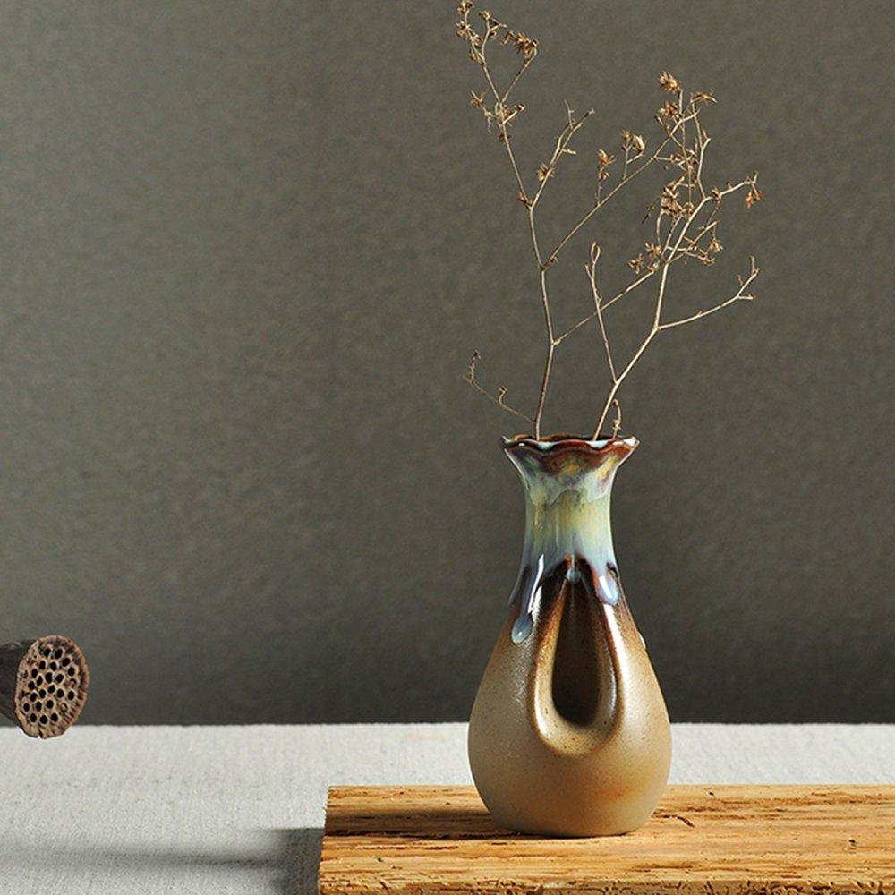 銮瓷 花瓶摆件客厅创意花瓶摆件陶瓷花瓶插花瓶现代家居装饰品窑变