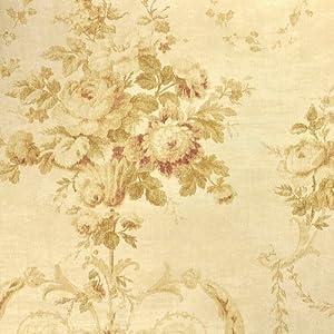 本木 现代欧式田园大花复古卧室壁纸 美式乡村个性做旧房间无纺布墙纸图片