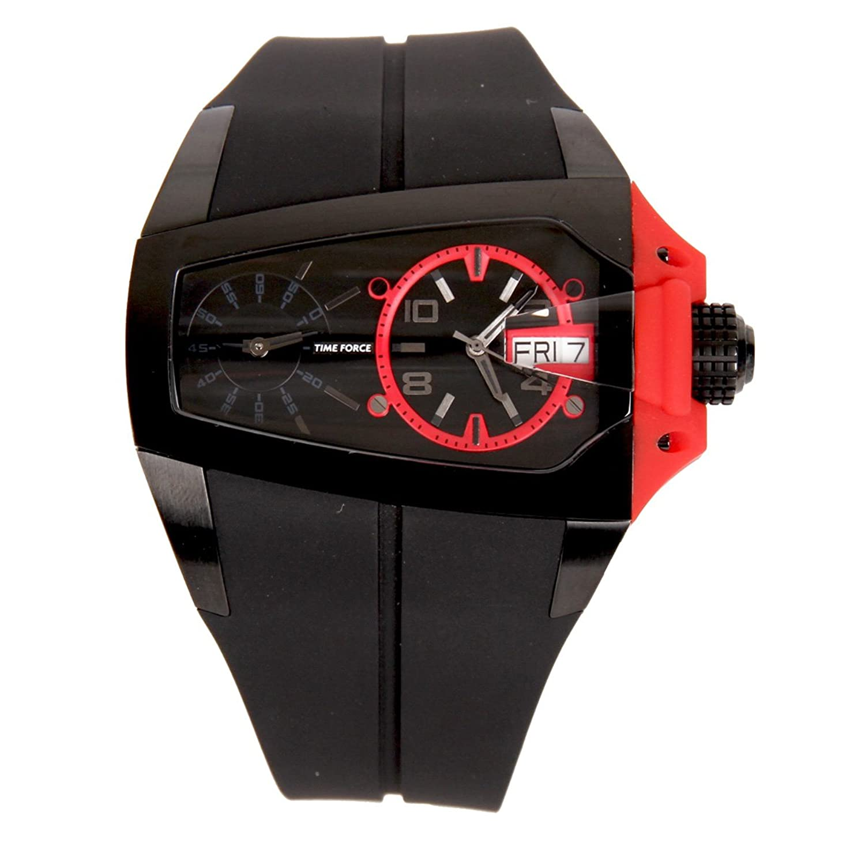 time force 时尚超酷 黑色个性男士手表tf3130m14