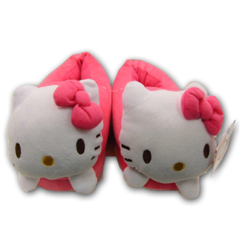 正品正版 礼物现货hello kitty凯蒂猫可爱立体猫头家居保暖鞋拖鞋