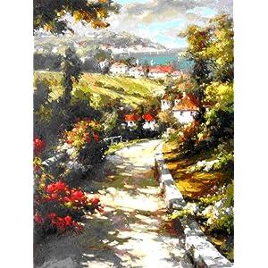 goya戈雅s0002无框手绘油画欧洲花园风景