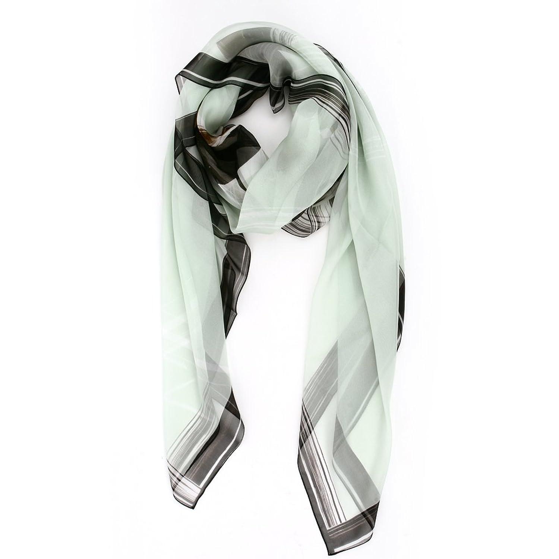 女士新款淡绿色正方形丝巾