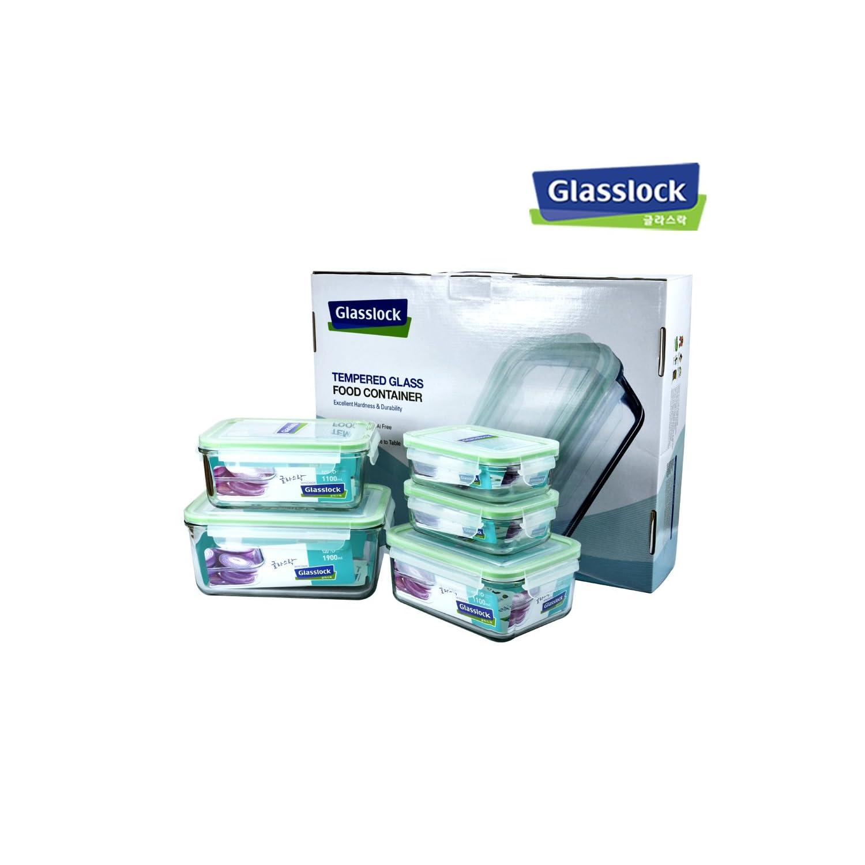 GLASSLOCK 三光云彩 GL08 保鲜盒套组 ¥189,叠加180-80(1.9L、1.1L*2、400ml*2)