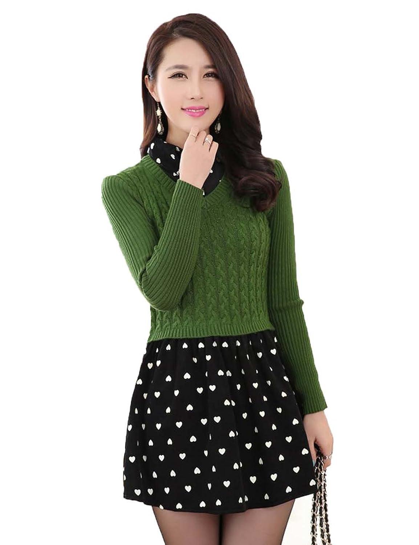 亚洲色囹��yi�yi�yolz)�_feimanyi 菲缦依 2014女装 新款韩版毛衣 中长款假两件套针织衫 新款