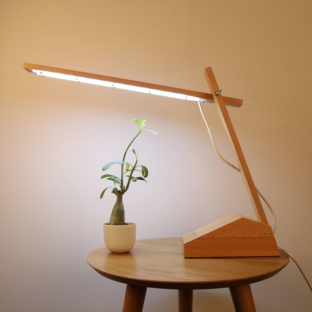 【奥朴设计】原创设计 创意台灯 原木台灯 卧室床头灯