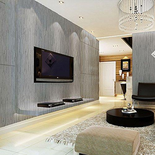 绿泇 无缝墙布 现代简约电视背景墙客厅卧室餐厅壁布0912 银灰色/1米