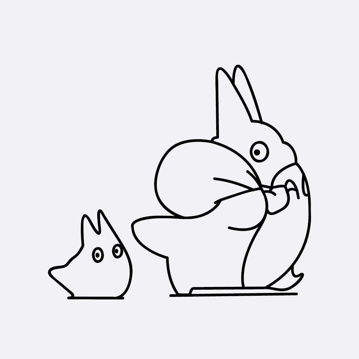简单龙猫简笔画