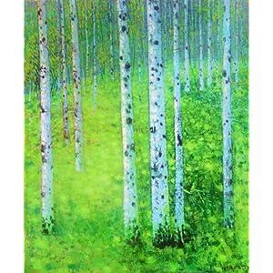 爱艺客 艺术家张志国的原创手绘油画作品《小白桦》50