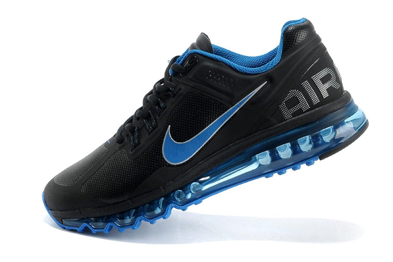 nike 耐克 2013秋冬新款 男鞋 air max 全掌气垫 跑鞋 运动鞋 黑蓝