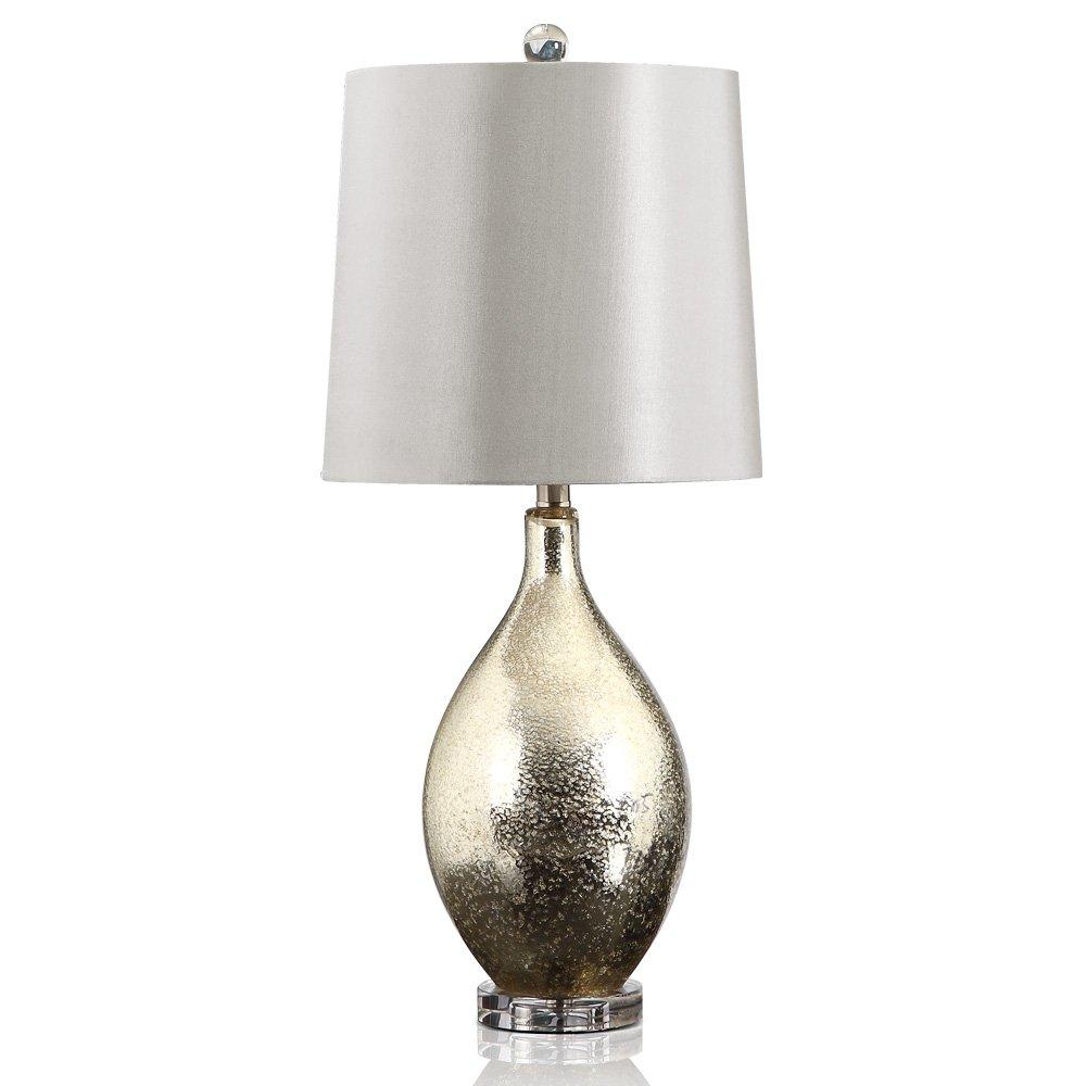 奢华美式台灯 欧式现代简约酒店别墅客厅书房创意时尚玻璃台灯