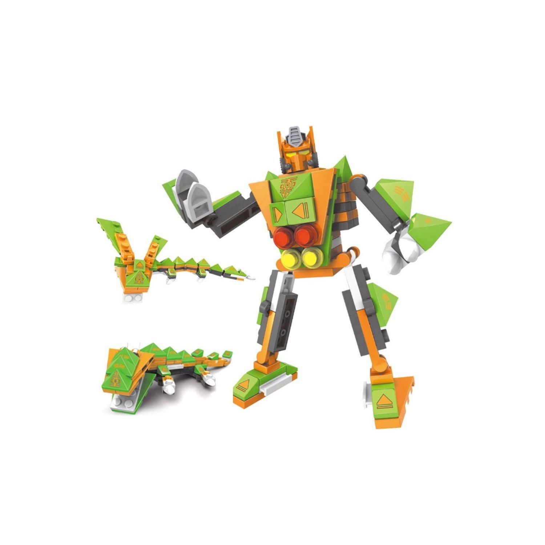 乐高式益智积木 变形金刚机器人塑料拼插儿童益智拼装玩具 机变战队