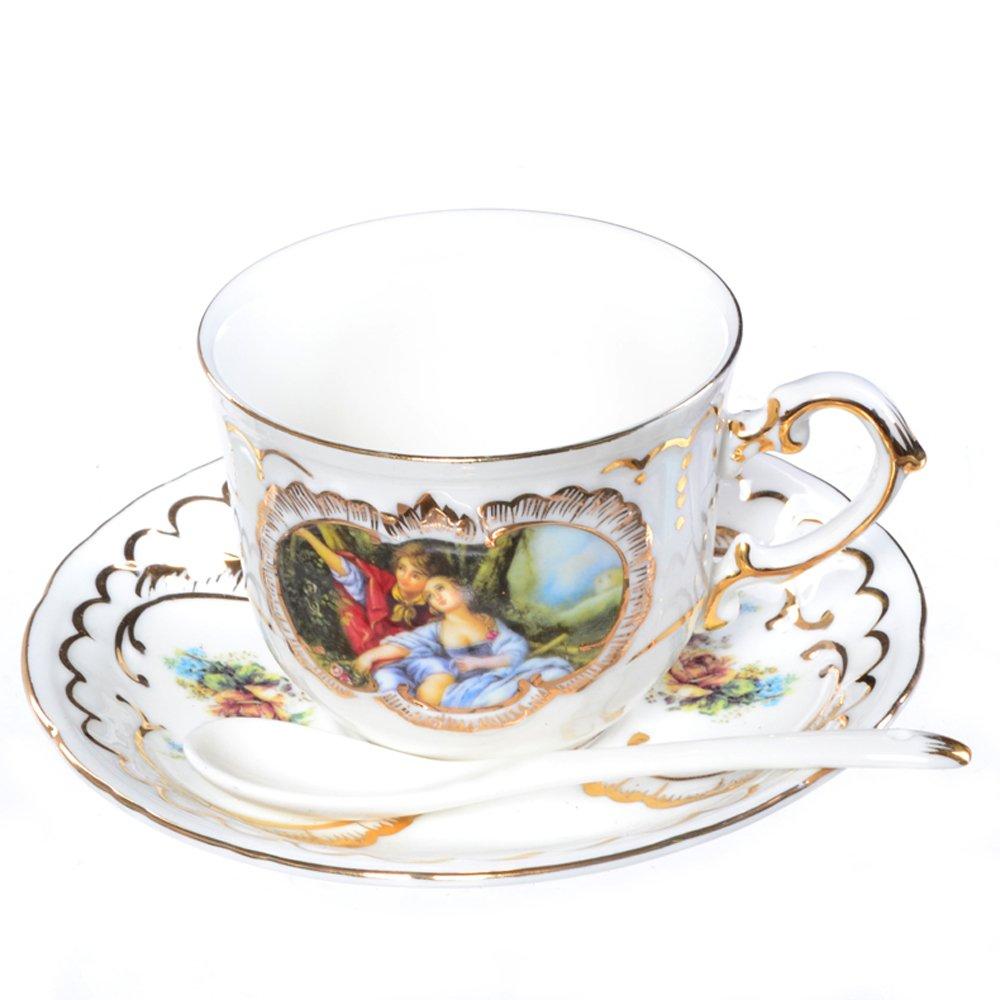 叶色欧式手绘咖啡杯茶杯