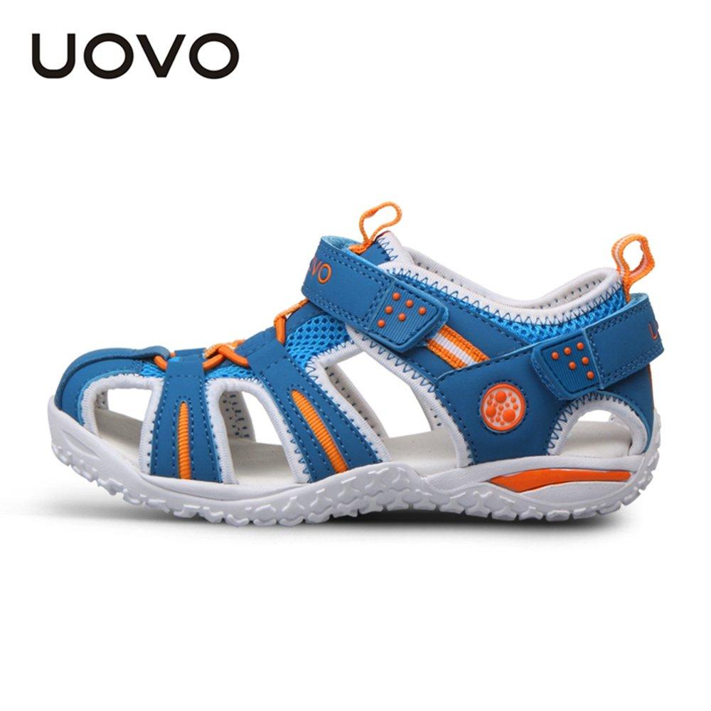 uovo包头儿童凉鞋夏季沙滩鞋2015夏新款韩版小大童男童鞋女童鞋潮 34
