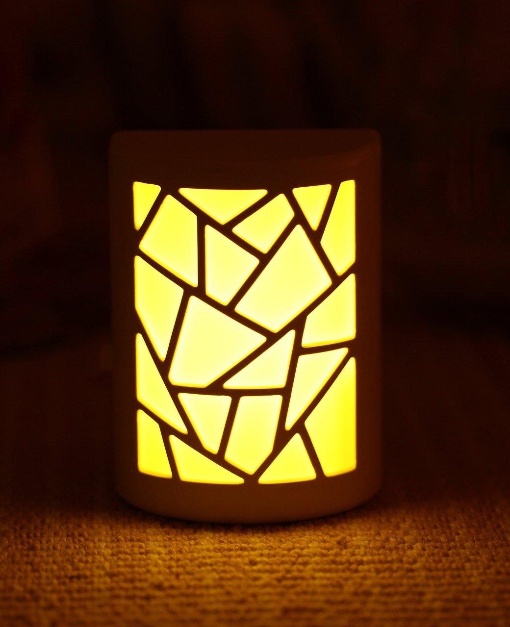 银之优品 智能声光控节能床头插电壁灯 led声控光控中国风小夜灯 (xa图片