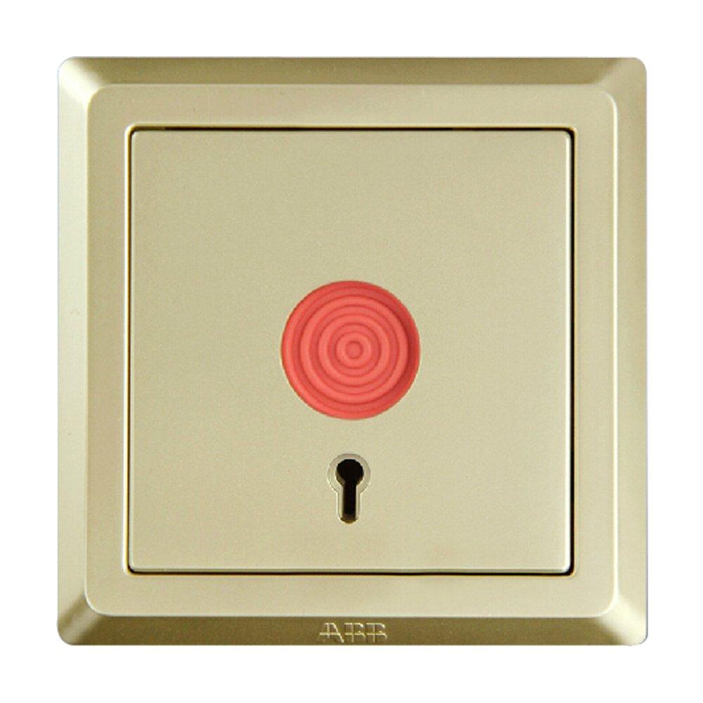 abb开关面板插座德逸珍珠金色报警开关紧急按钮ae419