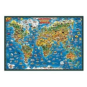 世界地图英文版