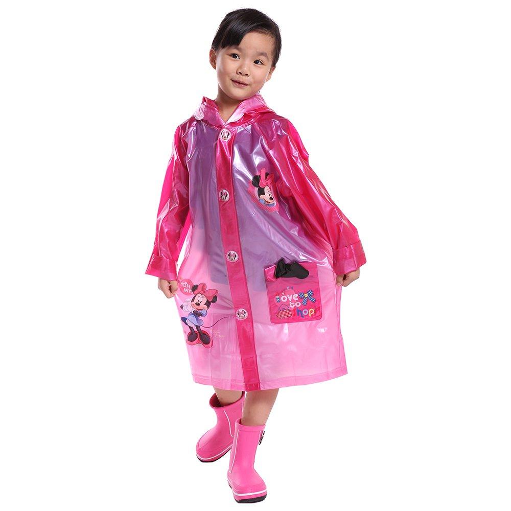 disney 迪士尼 儿童雨衣宝宝 小学生卡通雨衣 带书包位 儿童雨披(xl