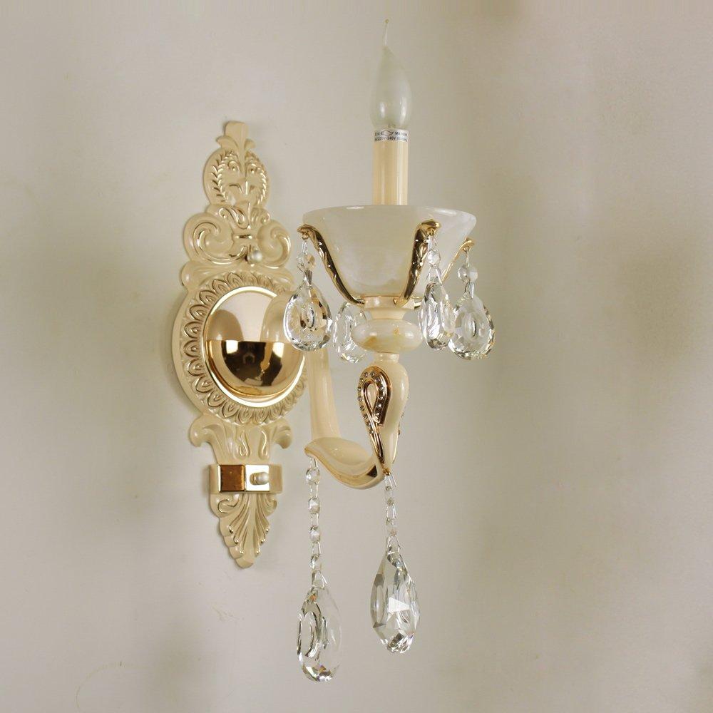 观复 奢华欧式壁灯 水晶灯玉石灯具 客厅走廊过道灯饰
