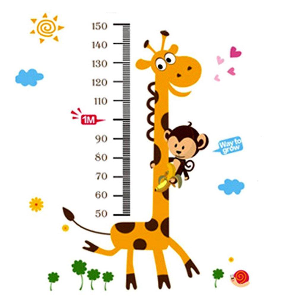 lionf 乐婴坊 长颈鹿身高贴 童身高尺 身高贴 可移除身高尺 量身高