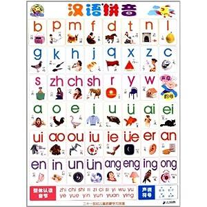 儿童启蒙学习双面挂图:汉语拼音汉字偏旁\/二十
