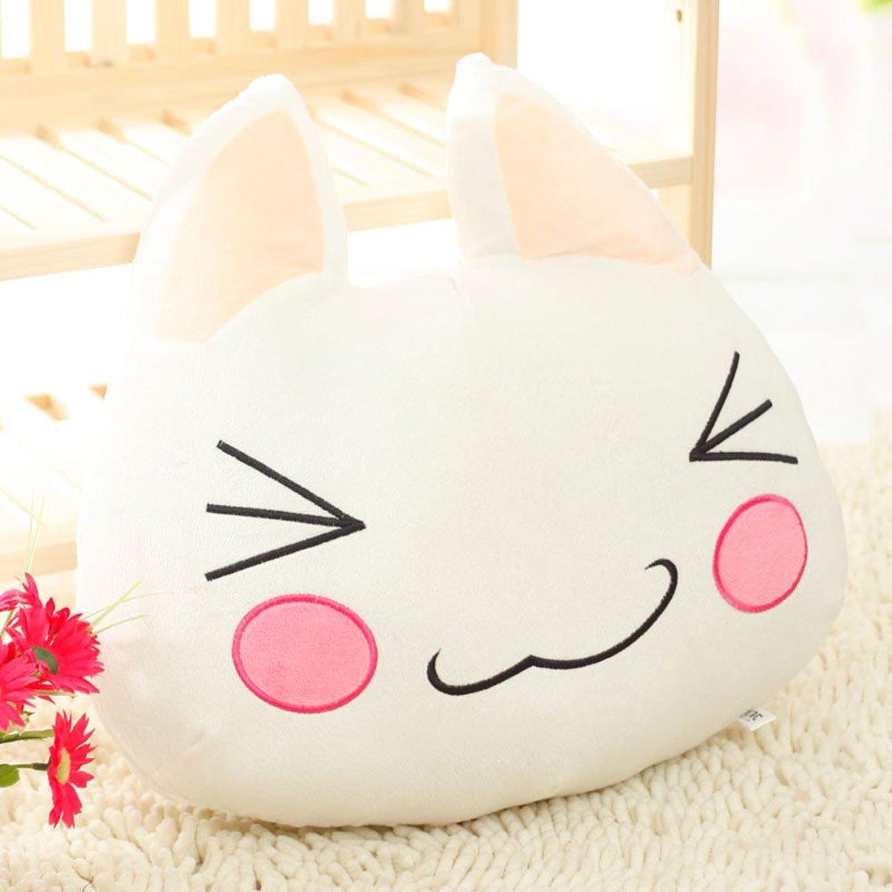 许愿精灵 多罗猫靠垫 黑白猫咪情侣抱枕 生日礼物 毛绒玩具 情人节