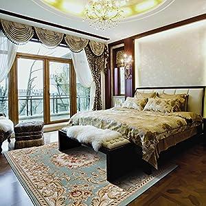 锦川 加密加厚剪花高档地毯 美式欧式中式茶几卧室客厅地毯 300×400