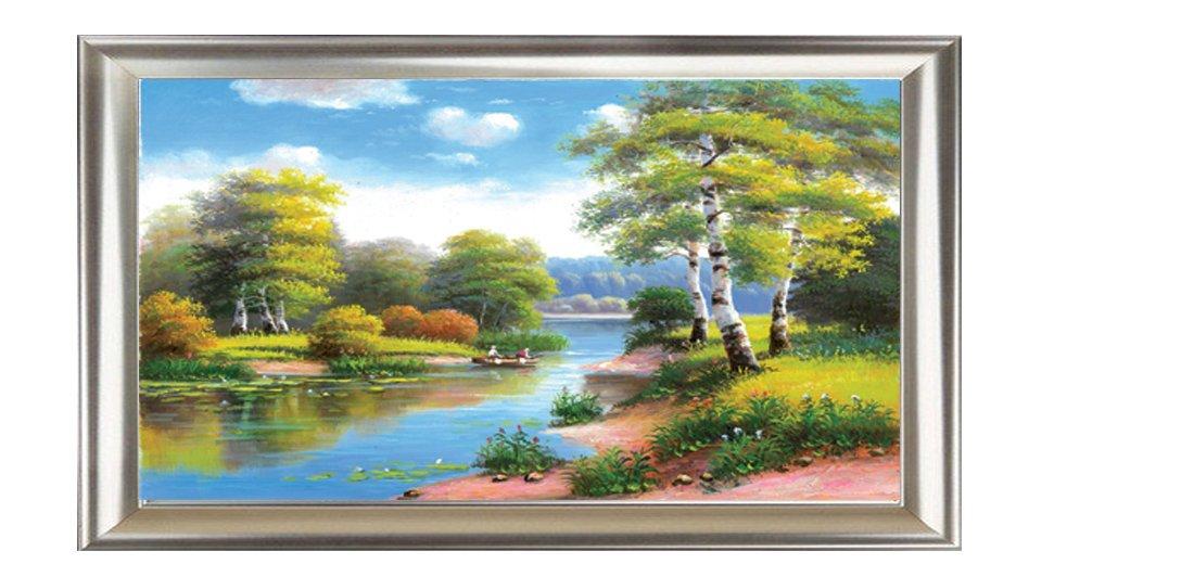 大堂 办公室 酒店 挂画 背景墙壁画 欧式风景画 名师手绘油画大型画