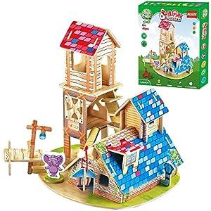 质积木拼图房屋