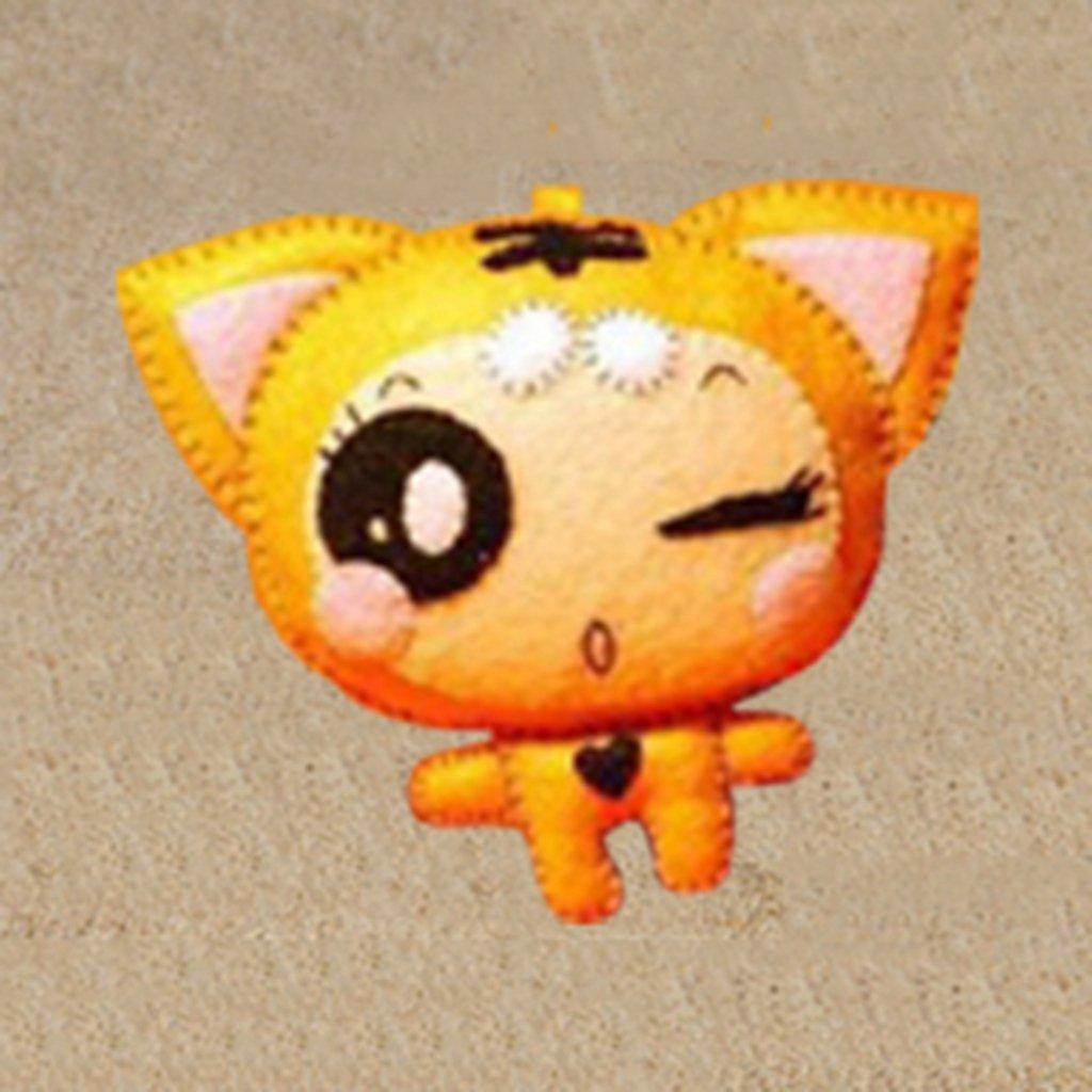 小布头 布艺手工diy材料(套件)可爱虎虎猴挂件