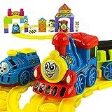 【网上城】 托马斯小火车套装 轨道火车电动儿童玩具 积木乐园发声益智托马斯玩具-图片