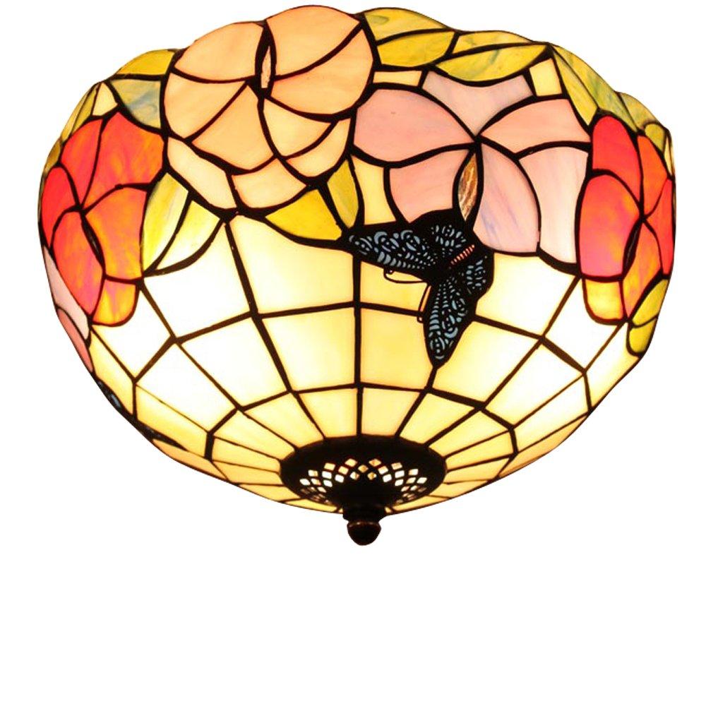 宜轩灯饰tiffanylamp欧式30cm吸顶灯现代田园阳台